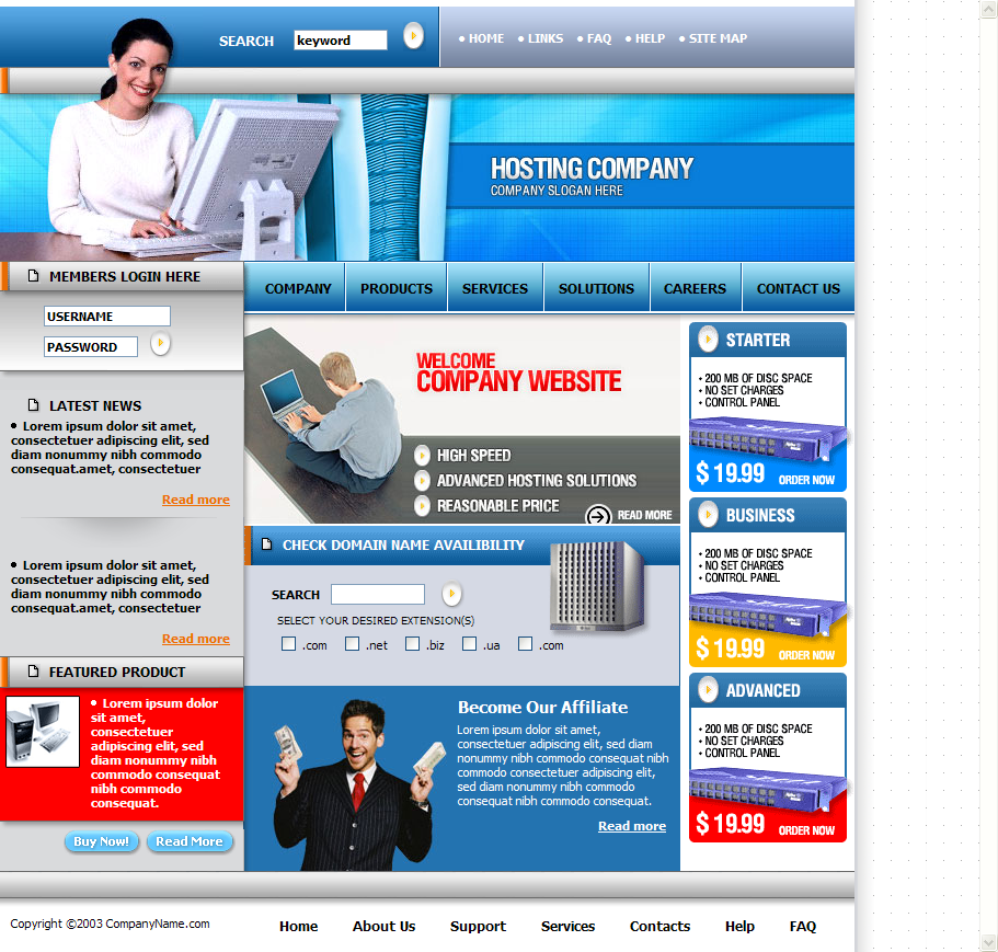 Corporate Theme Web Template Download